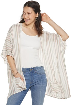 Women's Style Collective Lightweight Woven Striped Kimono