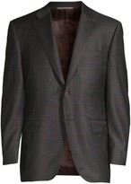 Canali Classic-Fit Plaid Single-Breasted Wool Jacket