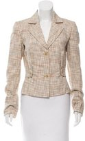 Carolina Herrera Tweed Notch-Lapel Blazer