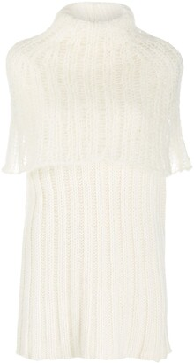 Jil Sander Cape Detail Knitted Top