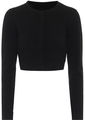 Alaia Cropped wool-blend cardigan