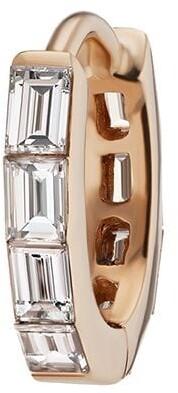 Maria Tash 6.5mm 18kt rose gold baguette diamond Eternity clicker earring
