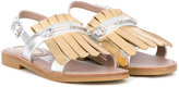 Gucci Kids - fringed sandals - kids - Leather/rubber - 28
