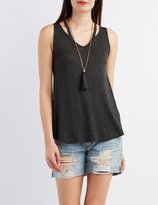 Charlotte Russe Cut-Out Tunic Tank