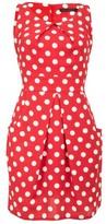 Dorothy Perkins Womens Tenki Red Polka Dot Print Tulip Shift Dress, Red