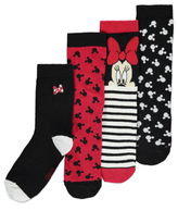 Disney George 4 Pack Minnie Mouse Socks