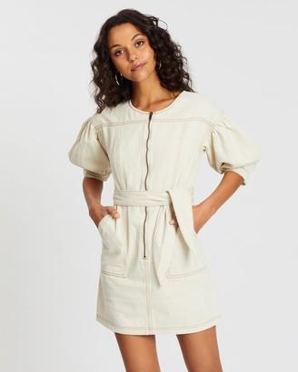 Staple The Label Kinship Blouson Mini Dress