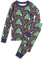 Hanna Andersson Seasonal Print Organic Cotton Fitted Two-Piece Pajamas (Toddler, Little Kids & Big Kids)