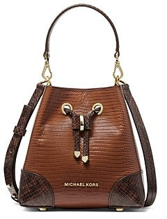 MICHAEL Michael Kors Mercer Gallery Extra Small Leather Bucket Crossbody