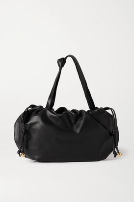 Bottega Veneta The Medium Bulb Gathered Leather Tote - Black