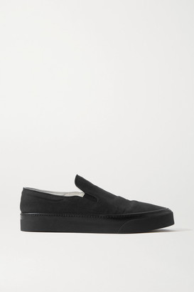 The Row Marie H Canvas Slip-on Sneakers - Black