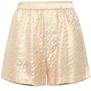 Kiki de Montparnasse Logomania Silk-satin Jacquard Pajama Shorts