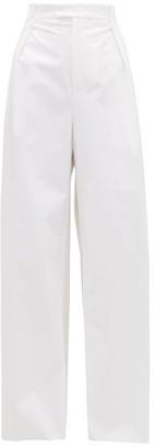 Bottega Veneta High-rise Wide-leg Trousers - White
