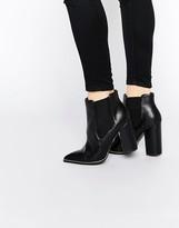 Paper Dolls Mulligan Metal Trim Heeled Chelsea Boots