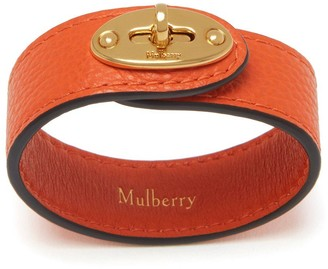 Mulberry Bayswater Leather Bracelet Tangerine Orange Small Classic Grain