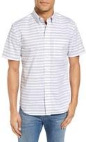 Jack Spade Stripe Short Sleeve Sport Shirt