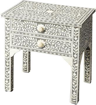 Butler Vivienne Gray Bone Inlay Side Table