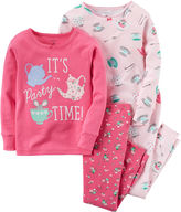 Carter's 4-pc. Pajama Set - Toddler Girls 2t-5t