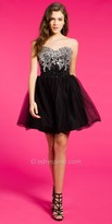 Camille La Vie Beaded Tulle Homecoming Dress