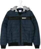 DKNY logo padded jacket