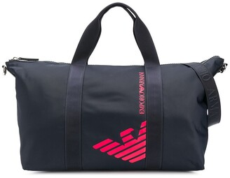 Emporio Armani Kids TEEN large logo shoulder bag