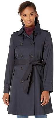 Lauren Ralph Lauren Year Round Rain Trench Coat (Dark Navy) Women's Coat