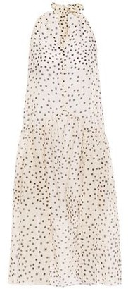 Stella McCartney Polka-dot Cotton And Silk-blend Mousseline Coverup