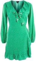Topshop PETITE Spot Ruffle Tea Wrap Dress