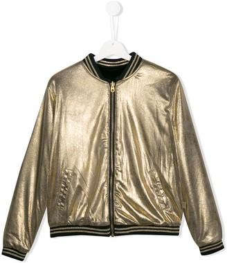 Little Marc Jacobs TEEN metallic bomber jacket