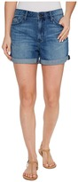 Calvin Klein Jeans Whisper Weight Boyfriend Shorts in Blue Lagoon Women's Shorts