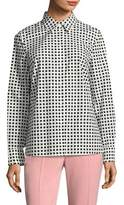 Escada Window Pane Cotton Shirt