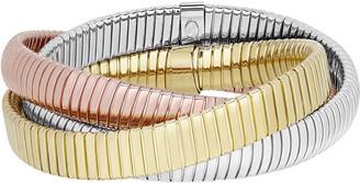 Milani Alberto V-Bagutta 18k Tricolor Bracelet