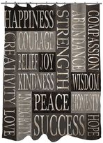 Thumbprintz Strength & Wisdom Fabric Shower Curtain
