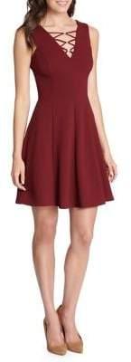 Kensie Sleeveless V-Neck Fit-&-Flare Dress
