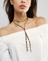 Asos Animal Print Choker Necklace