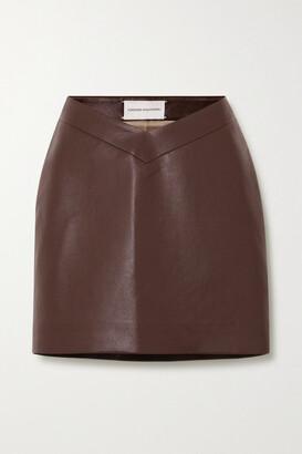 ALEKSANDRE AKHALKATSISHVILI Faux Leather Mini Skirt - Brown