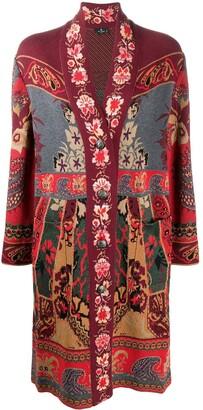 Etro Floral Pattern Long Cardigan