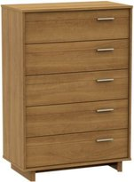 South Shore Fynn Collection 5-Drawer Chest - Harvest Maple