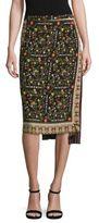 No.21 NO. 21 Asymmetrical Floral-Print Silk Skirt