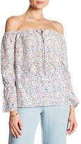 Cupcakes And Cashmere Freya Off-the-Shoulder Print Blouse