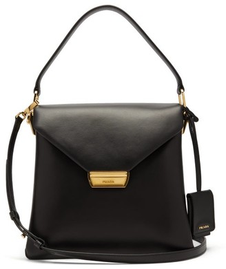 Prada Ingrid Medium Leather Cross-body Bag - Black