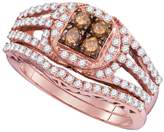 DazzlingRock Collection 1 Total Carat Weight COGNAC DIAMOND FASHION RING