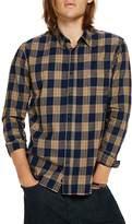 Scotch & Soda Plaid Long Sleeve Button-Down Slim Fit Shirt