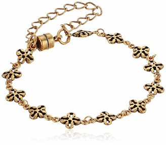 Alex and Ani Mini Floral Chain Magnetic Bracelet