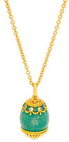 Elizabeth Taylor As Is The Simul. Faberge Egg Pendant & Chain