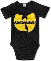 Vogt Wu Tang Clan Logo Yellow Unisex Baby Onesies