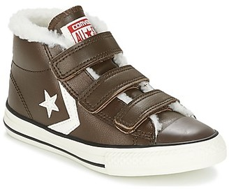 Converse STAR PLAYER EV V girls's Shoes (High-top Trainers) in Brown