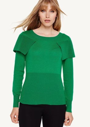 Phase Eight Agnes Fold Over Knitted Jumper