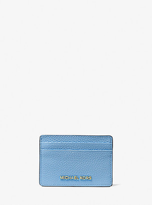 MICHAEL Michael Kors MK Pebbled Leather Card Case - Sth Pacific - Michael Kors