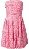 Moschino Cheap & Chic strapless lace dress - women - Cotton/Polyamide/Rayon - 42